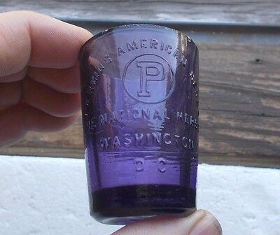 Perkins American Herbs National Herb Co Washington,dc Amethyst 1900 Dose Glass