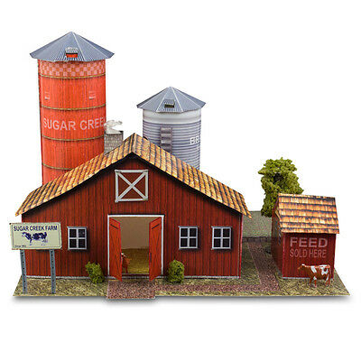1:48 Scale O Gauge Sugar Creek Vintage Farm Photo Real Scale Building Kit Sets