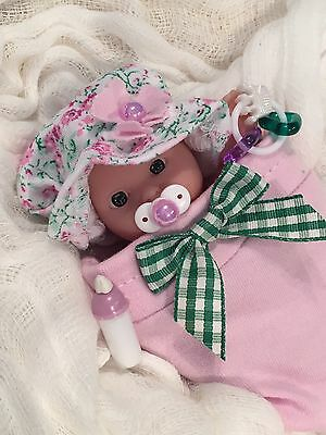 """LAVENDER 5 pc GiRL Baby DOLL CLOTHES~PaCiFieR~ToY~FOR 5-6"""" Mini Reborn~Berenguer"""