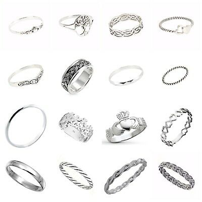 Sterling Silver 925 Mixed Design Rings in Sizes G-Z
