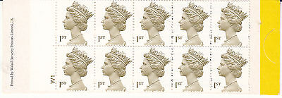 2000 Walsall HD53 olive-brown 10x 1st Millennium Booklet Cyl. W1  MNH