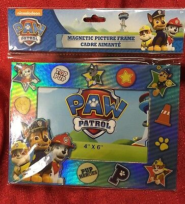 Nickelodeon Paw Patrol Magnetic Picture Frame Or Table Top 4 X 6 New In Package
