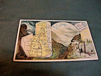 Victorian Trade Card For Arbuckle's Ariosa Coffee Card #70 New Hampshire