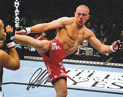 Gsp Georges St Pierre Signed Autographed Mma Ufc 8X10 Photo Exact Proof #3