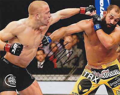 Gsp Georges St Pierre Signed Autographed Mma Ufc 8X10 Photo Exact Proof #8