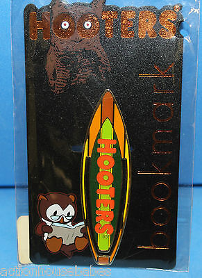HOOTERS RESTAURANT SURFBOARD METAL BOOKMARK - New in Package