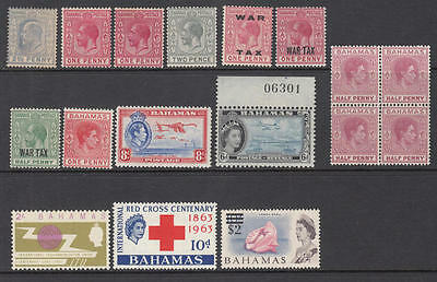 Bahamas pre-1965 mint hi val selection 14 diff stamps cv $54.50