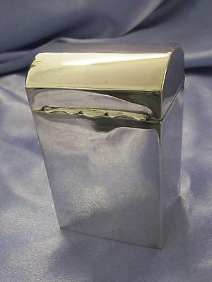 Sterling Silver Desk Cigarette Box - Case 1902 Made in Chester by G N R H 95.91g