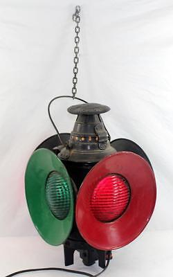 Vintage Train Dressel Arlington, NJ 4-way Railroad Switch Light Lantern Lamp