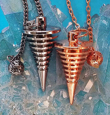 2 Joe Smith Style Dancing Copper, Titanium Dowsing Pendulums, Most Accurate Ever