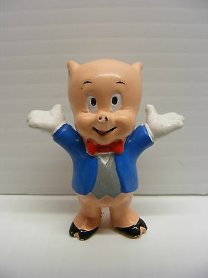 vintage acme wb looney tunes PORKY PIG  3in. Pvc figure Applause 1988
