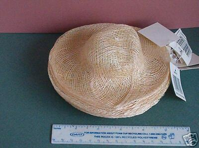 """WHOLESALE LOT 24 -  6"""" Dia, NEW SINAMAY NATURAL Doll or Bear HATS to Decorate"""