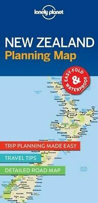 NEW New Zealand Planning Map By Lonely Planet Folded Sheet Map Free Shipping