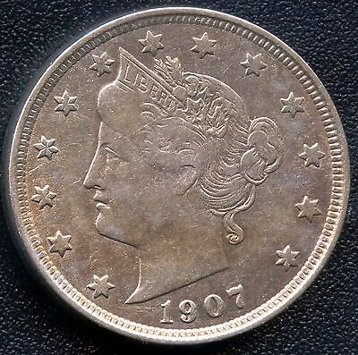1907 United States Liberty Nickel Coin
