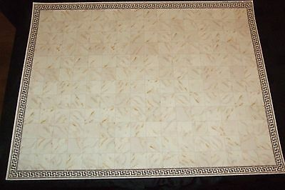 1.12 Scale  - A3 Luxury Beige Tiled Patterned Flooring For The Dolls House