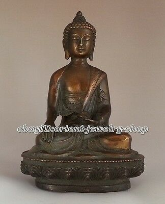 Chinese Collectible Bronze  Antique Buddha Statue
