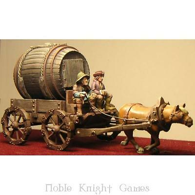 Fenryll Fantasy Mini Resin 28mm Medieval Wagon w/Barrel Pack MINT