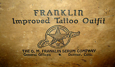 Vintage Franklin Improved Rotary Tattoo Outfit in Orig Box w/ Instructions – Den