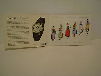 Vintage Swiss travel guides/book, brochure   LONGINES  AD  AND SWISS COSTUMES