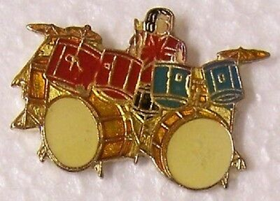 Hat Lapel Pin Push Tie Tac Music Musical Instrument Drummer NEW