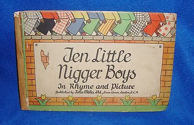 Vintage Black Americana Ten Little N***** Boys in Rhyme and Picture Book Germany