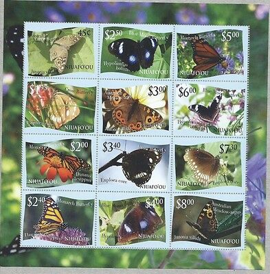 Niufo Ou #287 and the 2013 sheet - TWO BUTTERFLY SHEETS c FACE $90.00