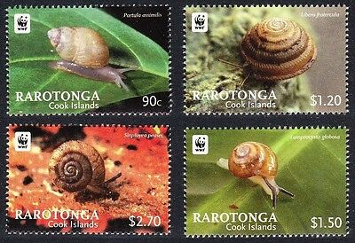 Cook Is WWF SNAILS ISSUE  (Rarotonga) - Mint **NH** - cat $12.25