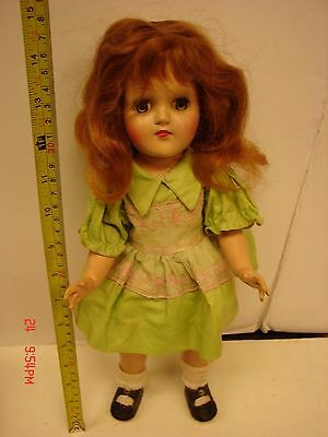 Vintage Ideal Doll P-90 Toni 14 Inch Original Clothing Outfit Redish Hair Lashes