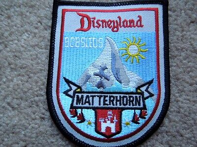 Original Disneyland 1960's Large Jacket Matterhorn Bobsleds Patch New   RARE