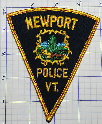 Vermont, Newport Police Dept Vintage Triangle Patch
