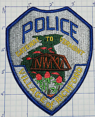 Vermont, Richford Police Dept Patch