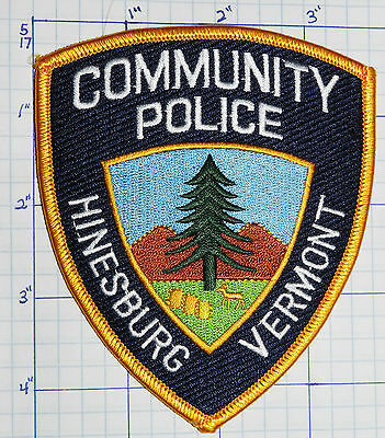 Vermont, Hinesburg Community Police Dept Patch