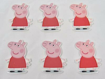 BB FLATBACKS planar PEPPA PIG STANDING with small loop pk of 6 flatback