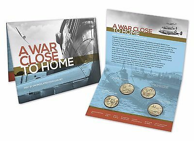 2017 Royal Australian Mint - A War Close to Home - Four Coin $1 Uncirculated Set