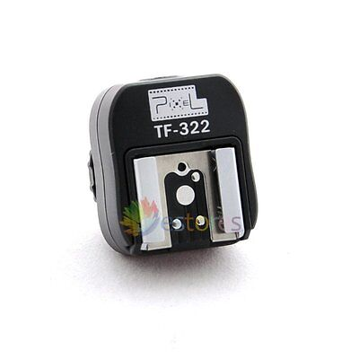 Pixel TF-322 i-TTL Hot Shoe Converter to PC Sync Socket Convert Adapter Fr Nikon