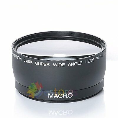 0.45X 58MM Wide Angle Marco Lens For Canon EF-S 18-55mm f/3.5-5.6 IS II Lens CAM