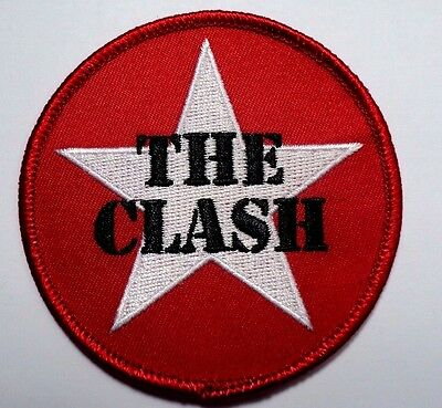 the clash star logo EMBROIDERED  PATCH IRON OR SEW