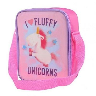 Despicable Me Fluffy Unicorn School Lunch Bag With FREE UK P&P