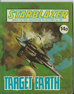Target Earth,starblazer Space Fiction Adventure In Pictures,no.55,1981