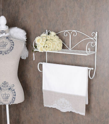 handtuchhalter wandhandtuchhalter doppel metall weiss shabby chic eur 52 95 picclick de. Black Bedroom Furniture Sets. Home Design Ideas