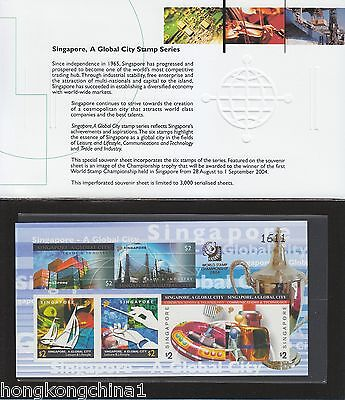 Singapore 2004 A Global City, imperforated miniature sheet SG133102