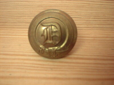 Large Antique  Livery Button -  D In Garter