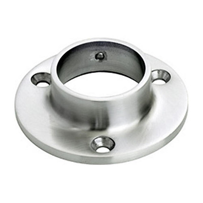 """Lavi Industries 44-510/1H Satin (Brushed) Stainless Steel 3"""" Wall Flange"""