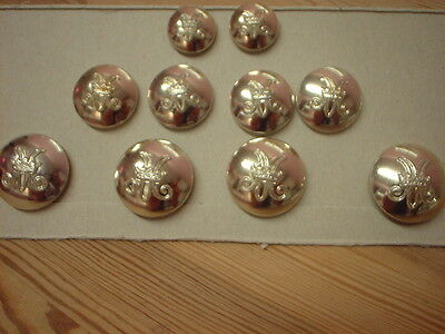 Military. Buttons, Womens Royal Army Corps ,  Full Set