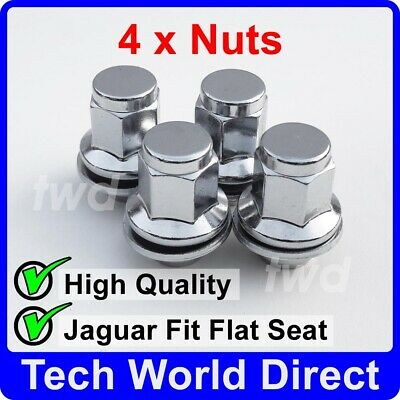 4x ALLOY WHEEL NUTS JAGUAR XF XF-R XE (M12X1.5) CHROME LUG BOLT STUD SET [4L]