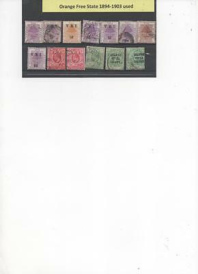Orange State /Orange River colony Collection of used Stamps