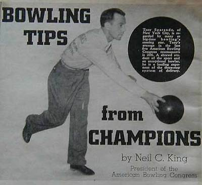 1947 Bowling How-To Tips Joe Wilman pictorial