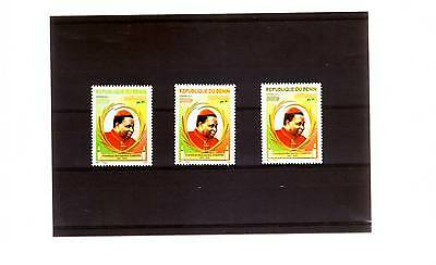 Benin 3 Mnh Sets Cardinal Gavin, Lycee And African Union President 2011-13