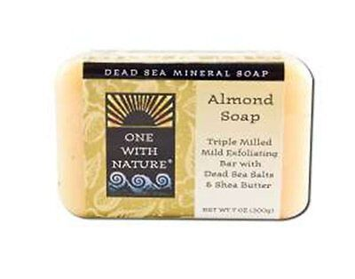 One With Nature Almond Dead Sea Mineral Soap, 7 Ounce Bar
