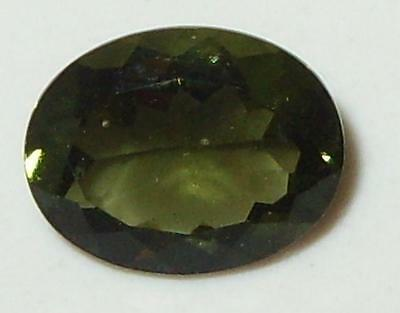 1.38ct Faceted TOP QUALITY Natural Czechoslovakia Moldavite Oval Cut 9x7mm